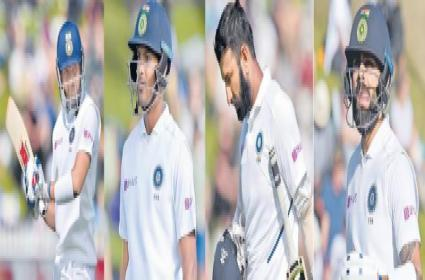 India look down the barrel after another top-order flop show - Sakshi