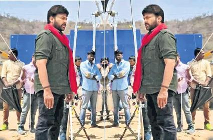 Chiranjeevi Look Leaked From Acharya Movie - Sakshi