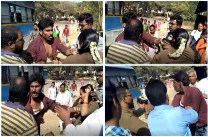 Passenger Attacks Woman RTC Conductor in Chittoor District - Sakshi