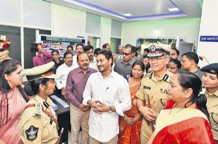 CM YS Jagan Mohan Reddy Comments at inauguration of Disha Police Station - Sakshi
