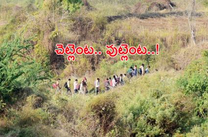 Migrant Workers Walking to Other States From Telangana - Sakshi