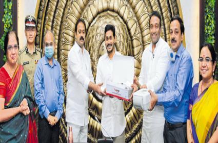 CM YS Jagan Mohan Reddy Launched Covid 19 Testing Kit In Amaravati - Sakshi