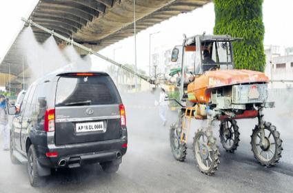 Municipal and Panchayati Raj Departments Rapid Action To Corona Virus Prevention - Sakshi