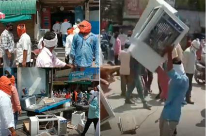 Shiv Sena Sainiks Vandalised Shops In Maharashtra - Sakshi