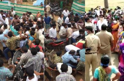 Clashes Between Two Groups In N Kothapalli - Sakshi
