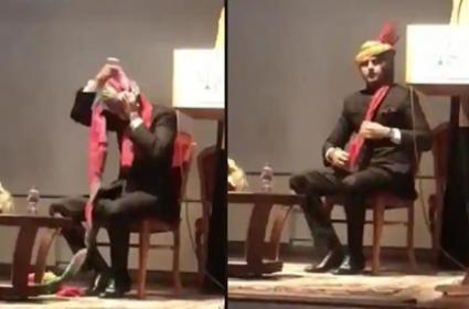 Sachin Pilot Ties Safa In Under 30 Seconds Became Viral - Sakshi