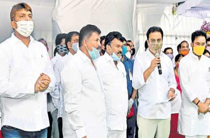 Minister KTR Laid Foundation Over New Flyovers In Hyderabad - Sakshi