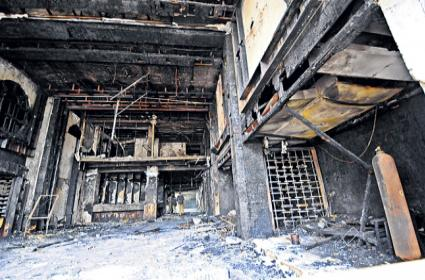 There is not a single device that can prevent a fire from happening in Swarna Palace - Sakshi