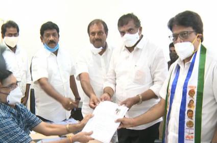 Penumatsa Suresh Babu files nomination for MLC Candidate - Sakshi