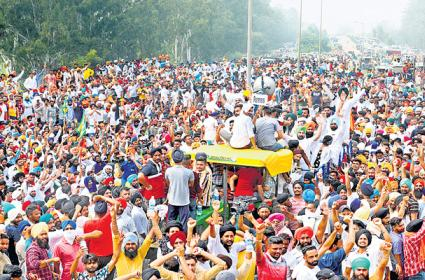 Farmers begin protest in Punjab and Haryana over farm bills - Sakshi