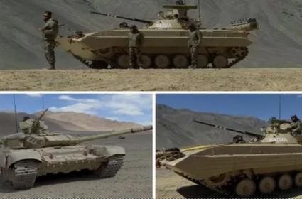 India Deploys T 72 T 90 Tanks In Eastern Ladakh  - Sakshi