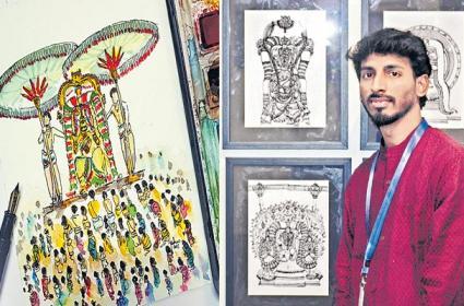 Special Story On Madhav Chitra Paint Art - Sakshi