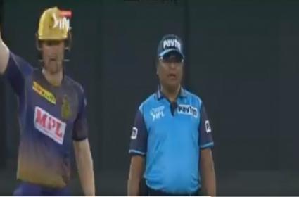 Umpire Shamsuddin Telugu Comments Viral Video In IPL - Sakshi