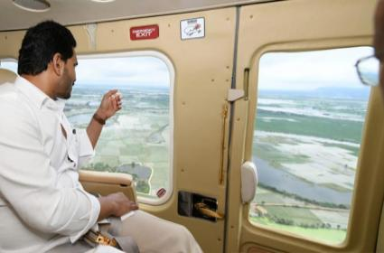 CM YS Jagan aerial Survey On Nivar Cyclone Affected Areas - Sakshi