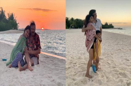 Manchu Lakshmis Maldives Vacation With Family Photo Viral  - Sakshi