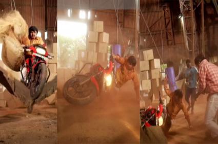Accident in Bazar Rowdy Shooting Sampoornesh Babu is safe - Sakshi