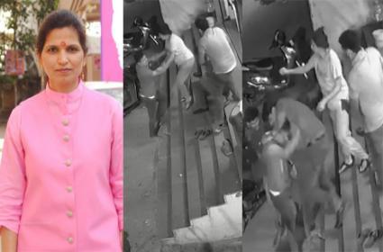 TRS Leader Shanti Devi Followers Attack Shop Owner In Begum Bazar - Sakshi
