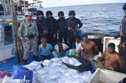 Navy Recovers 300 kg Narcotics Worth 3000 Crore From Fishing Vessel - Sakshi
