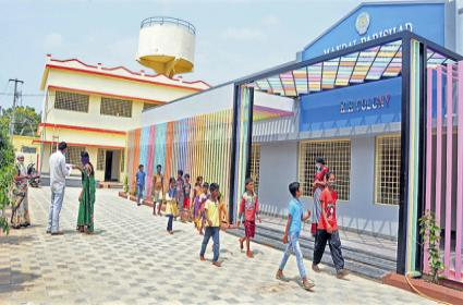 AP public schools looks have changed with Nadu Nedu works - Sakshi