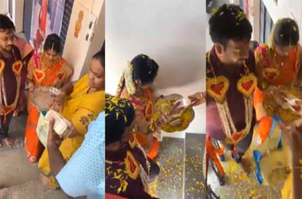 Viral In Laws Family Invites New Bride With Cash And Many Gifts - Sakshi