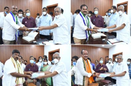 Four MLCs Takes Oath In AP Legislative Council Over Governor Quota - Sakshi