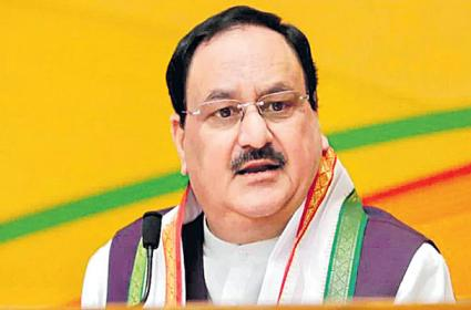 Opposition has no other issue left with it says JP Nadda - Sakshi