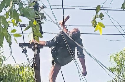 Farmer Who Went To Help Other Farmers And Assassination On The Electricity pole - Sakshi