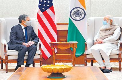 US Secretary of State Antony Blinken meets PM Narendra Modi - Sakshi