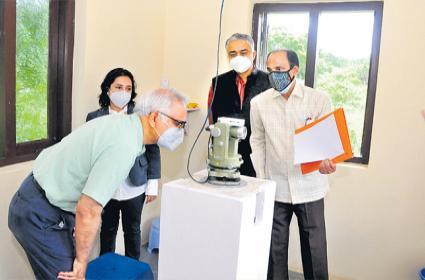 Sekhar C. Mande Launched Geo Magnetic Observatory Choutuppal - Sakshi