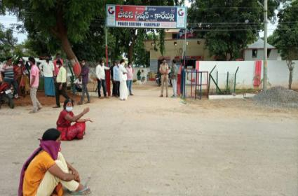 Husband Molested His Wife In khammam - Sakshi