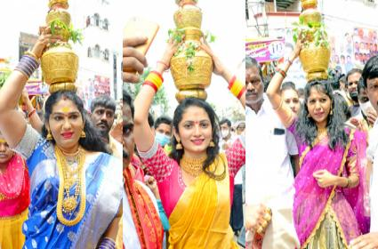 Celebrities At Hyderabad Bonalu Festival Celebrations - Sakshi