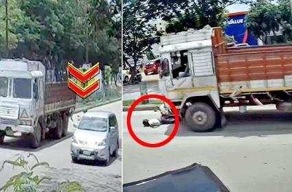 Cyberabad Traffic Police Tweet Bachupally Accident Video - Sakshi