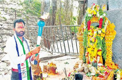 Man Padayatra Seeking Declare Bharat Ratna To YSR - Sakshi