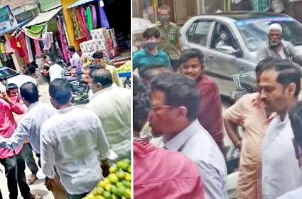 Anantapur TDP Ex MLA Kandikunta Venkata Prasad Abuse Municipal Officials - Sakshi