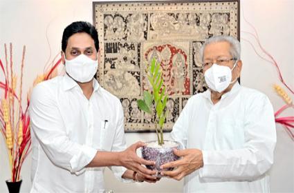 CM YS Jagan Birthday Wishes To Governor Biswabhusan Harichandan - Sakshi