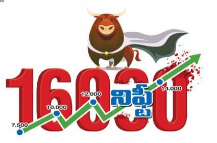 Stock Market: Nifty Crosses 16000 Sensex At New High - Sakshi