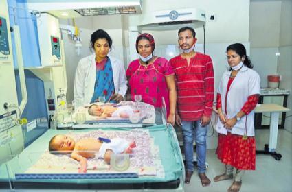 Birth Of Twins With IVF Andhra Pradesh - Sakshi