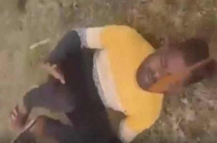 Tied With The Belt: Man Brutally Thrashed In Madhya Pradesh - Sakshi
