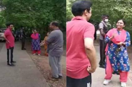 CM MK Stalin Talking With Public On Morning Walk In Tamilnadu - Sakshi