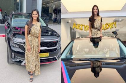 Bigg Boss Ariyana Glory Purchase New Kia Car - Sakshi