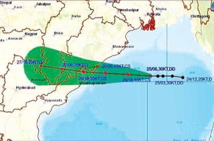 Gulab Cyclone High Alert In North Coastal Andhra Pradesh - Sakshi