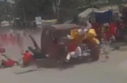 Car Ploughs Into Religious Procession Chhattisgarh - Sakshi