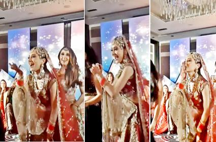 Desi Bride And Her Squad Groove Pappu Cant Dance On Wedding Day - Sakshi