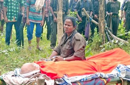 Maoist Top Leader RK Funerals Performed At Telangana Border Photos Released - Sakshi
