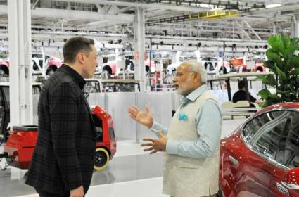 Tesla Electric Vehicles To India Musk Request PM Modi Over Tax Cut - Sakshi