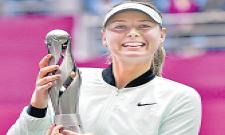 Maria Sharapova wins 1st title since doping ban