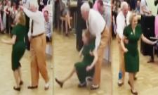 old age couple Excellent dancing