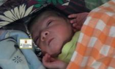 New born girl found in dustbin
