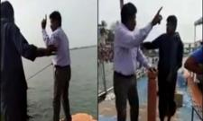 Krishna River Boat Mishap Viral Video - Sakshi