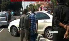 car was damaged in Banjara Hills - Sakshi
